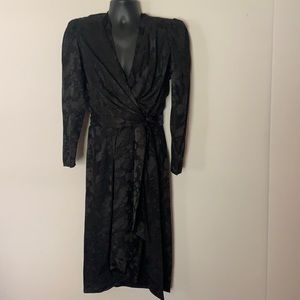 Vintage 80s Argenti Silk Wrap Dress
